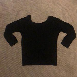 Backless long sleeve shirt